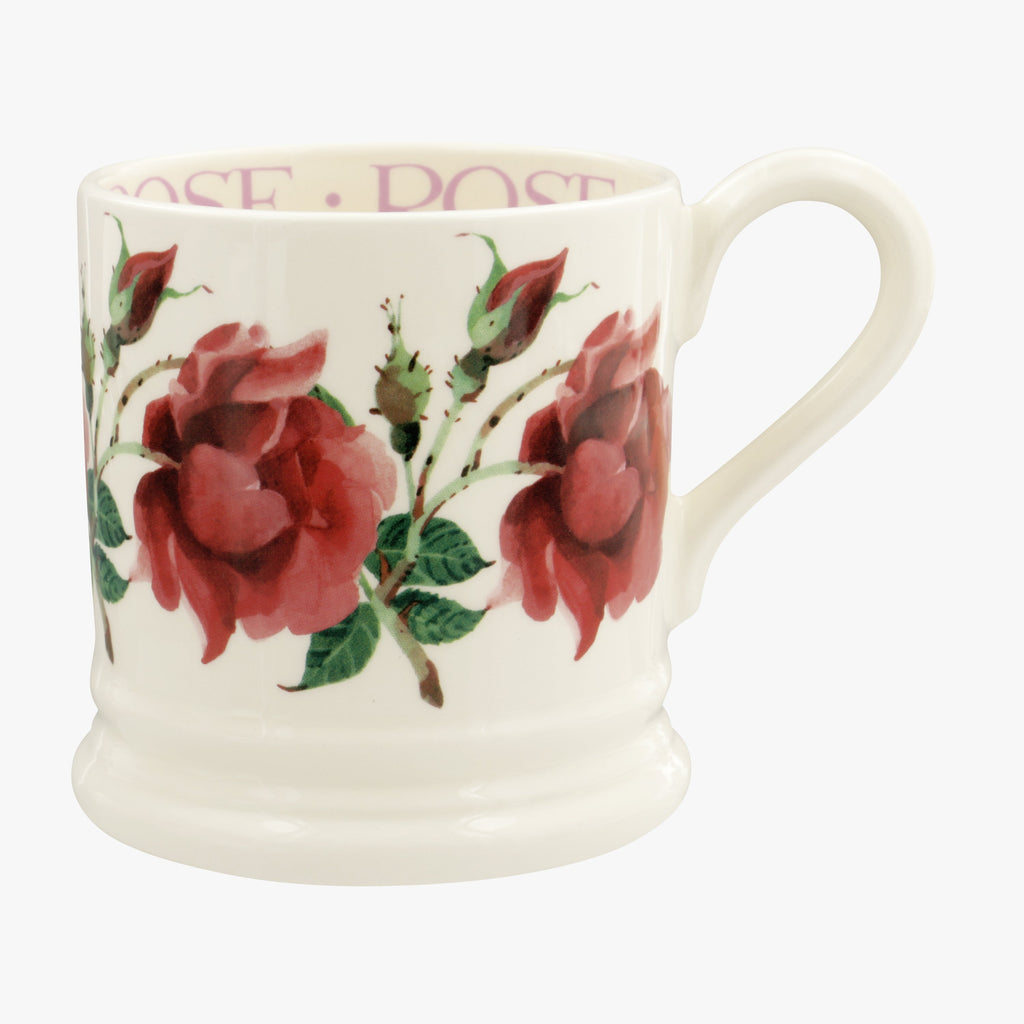 Seconds Flowers Red Rose 1/2 Pint Mug