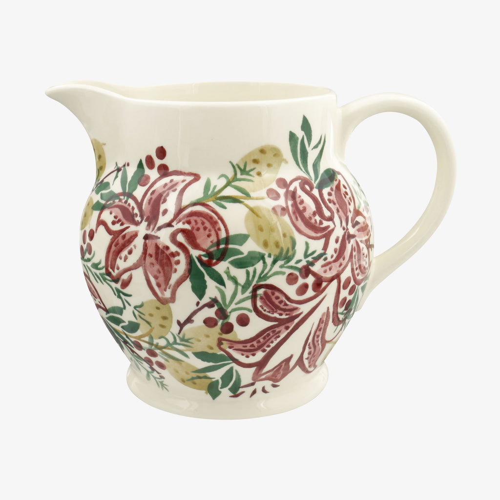 Red Stargazer Lily 3 Pint Jug