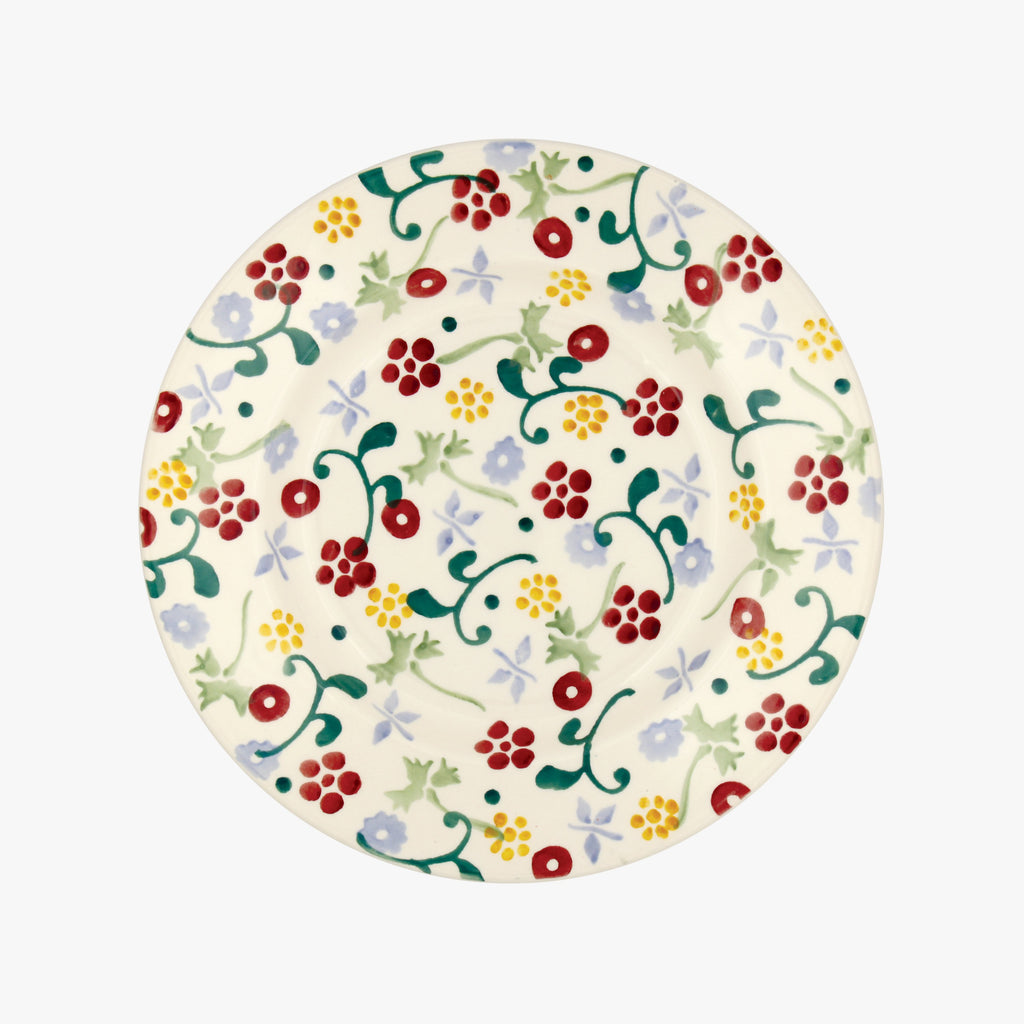 "Spring Floral 8 1/2"" Plate"