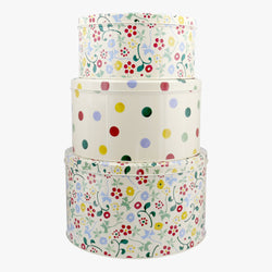 Spring Floral Set of 3 Round Cake Tins