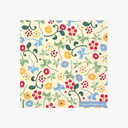 Spring Floral Lunch Napkins