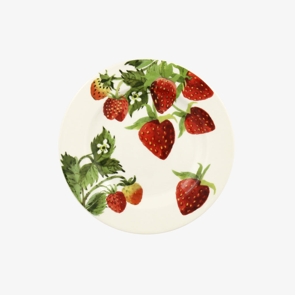 Vegetable Garden Strawberries 6 1/2 Inch Plate