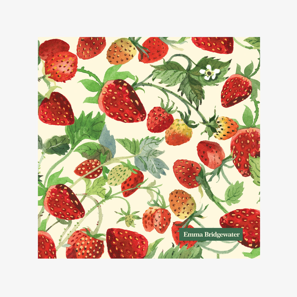 Vegetable Garden Strawberries Lunch Napkins