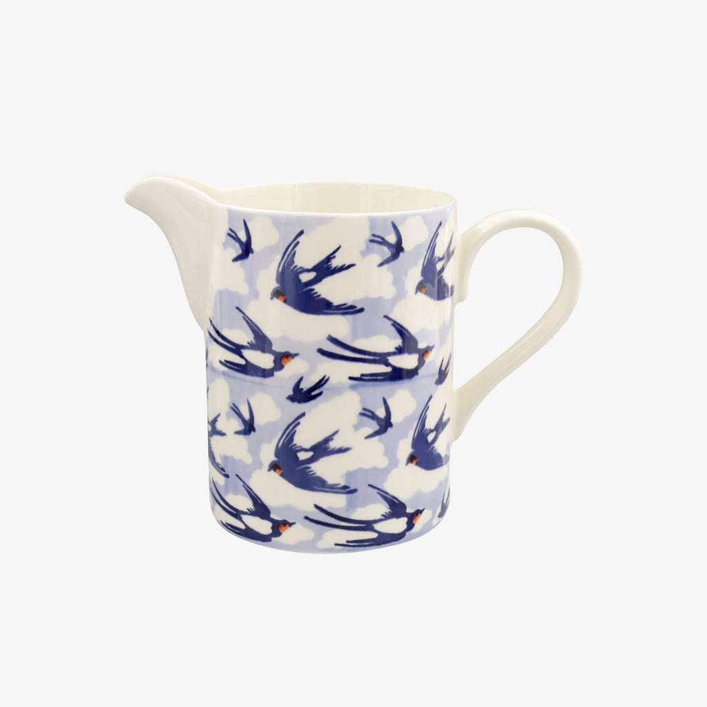 Seconds Blue Swallows In The Clouds Medium Straight Jug
