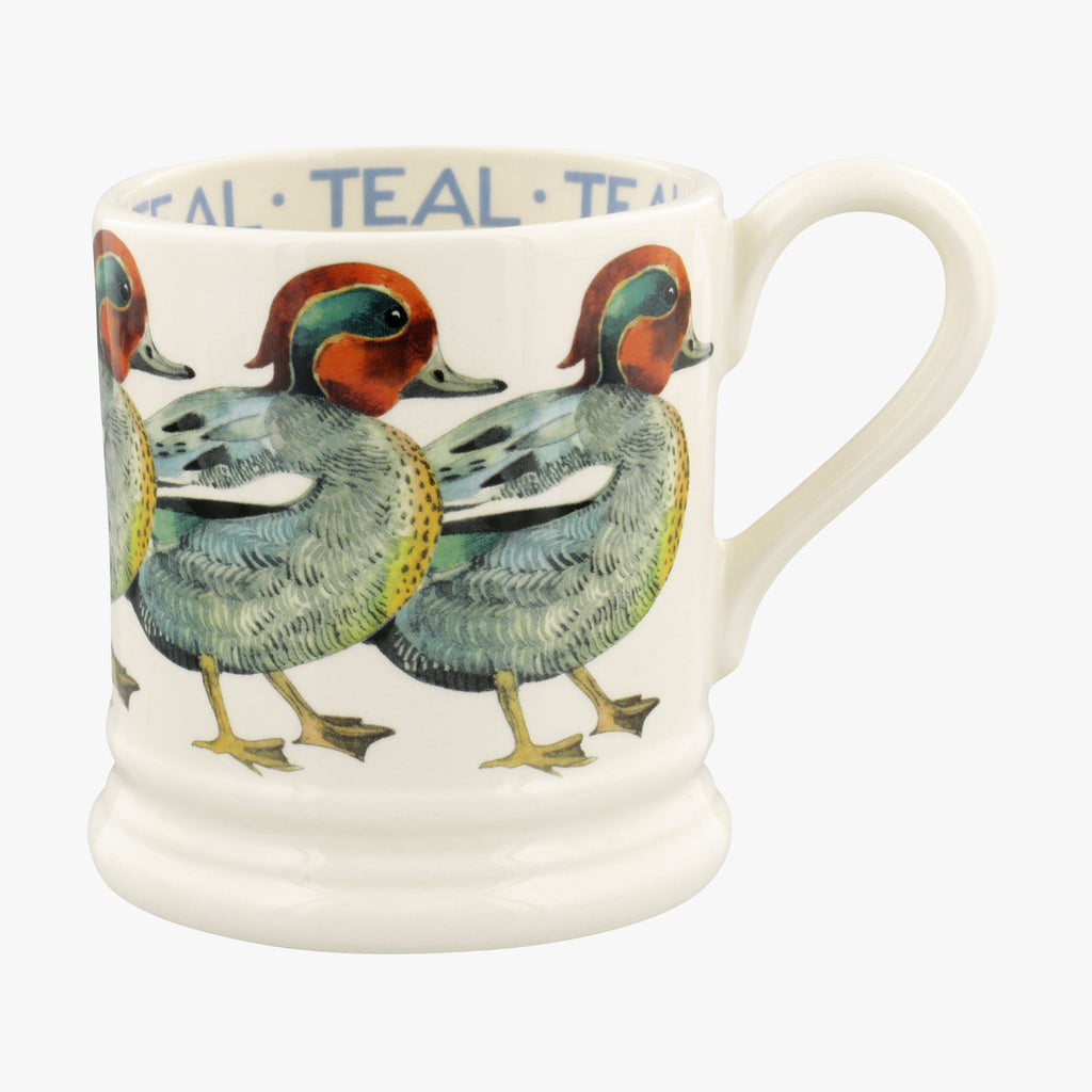 Seconds Birds Teal 1/2 Pint Mug