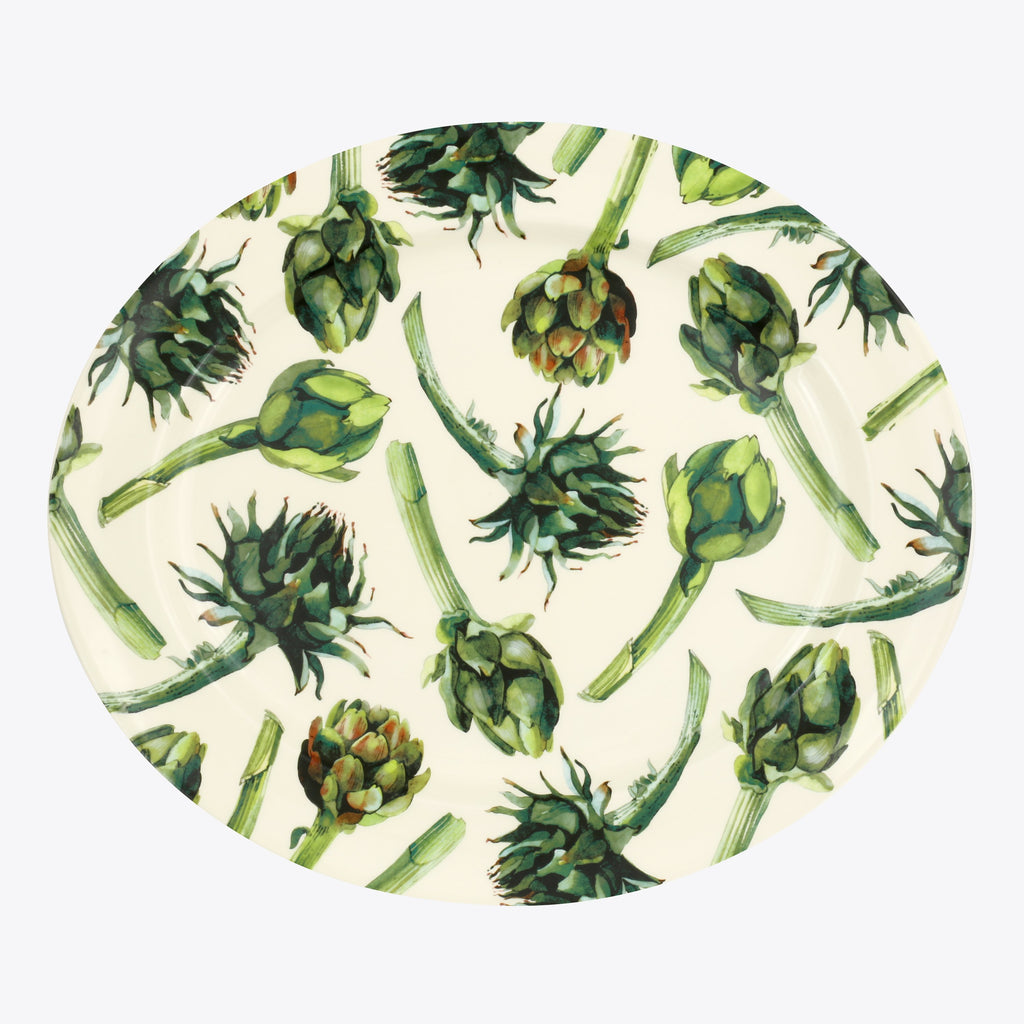 Seconds Vegetable Garden Artichoke Large Oval Platter