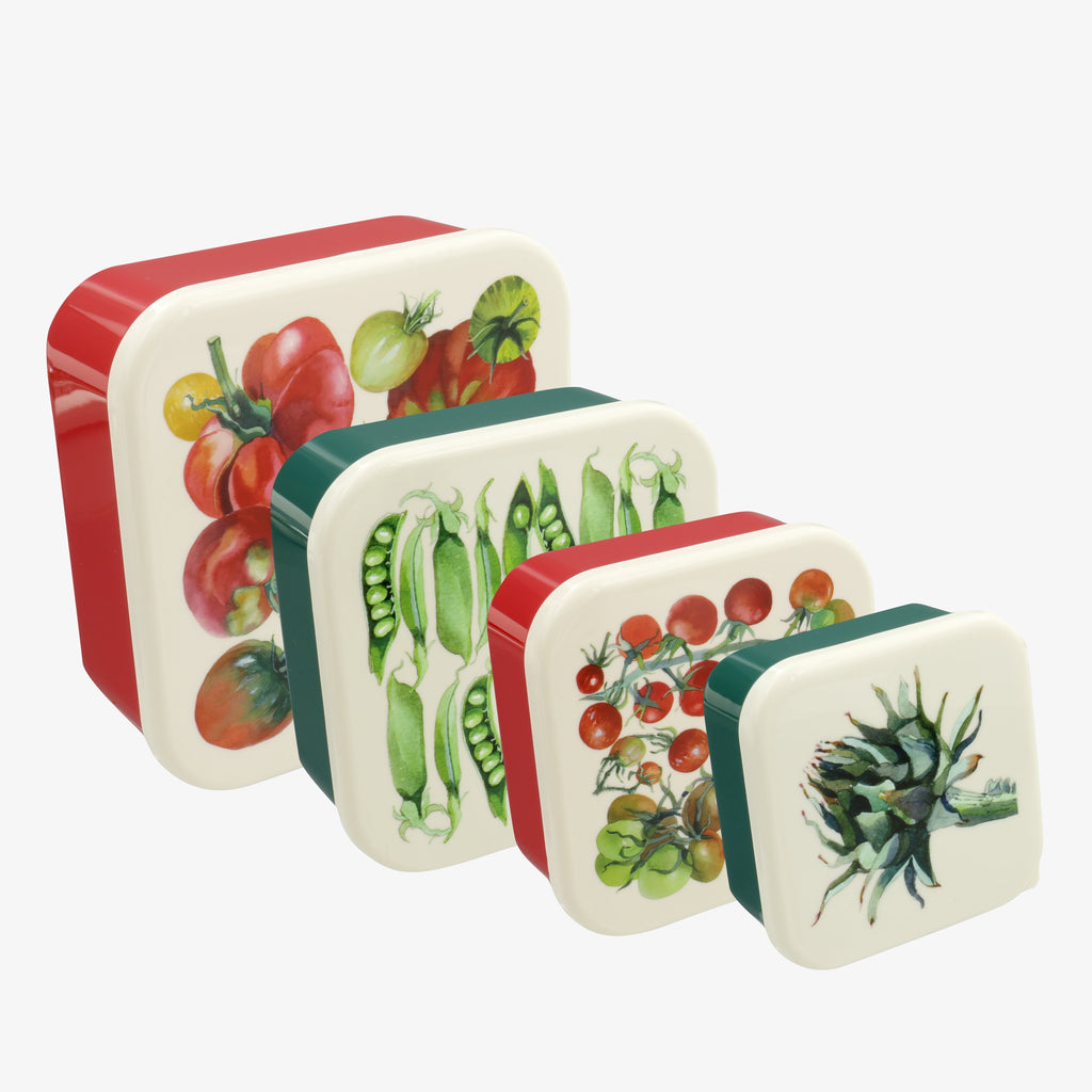 Vegetable Garden Set of 4 Snack Tubs