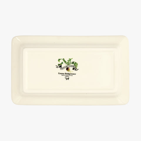 Vegetable Garden Sprouts Medium Oblong  Plate