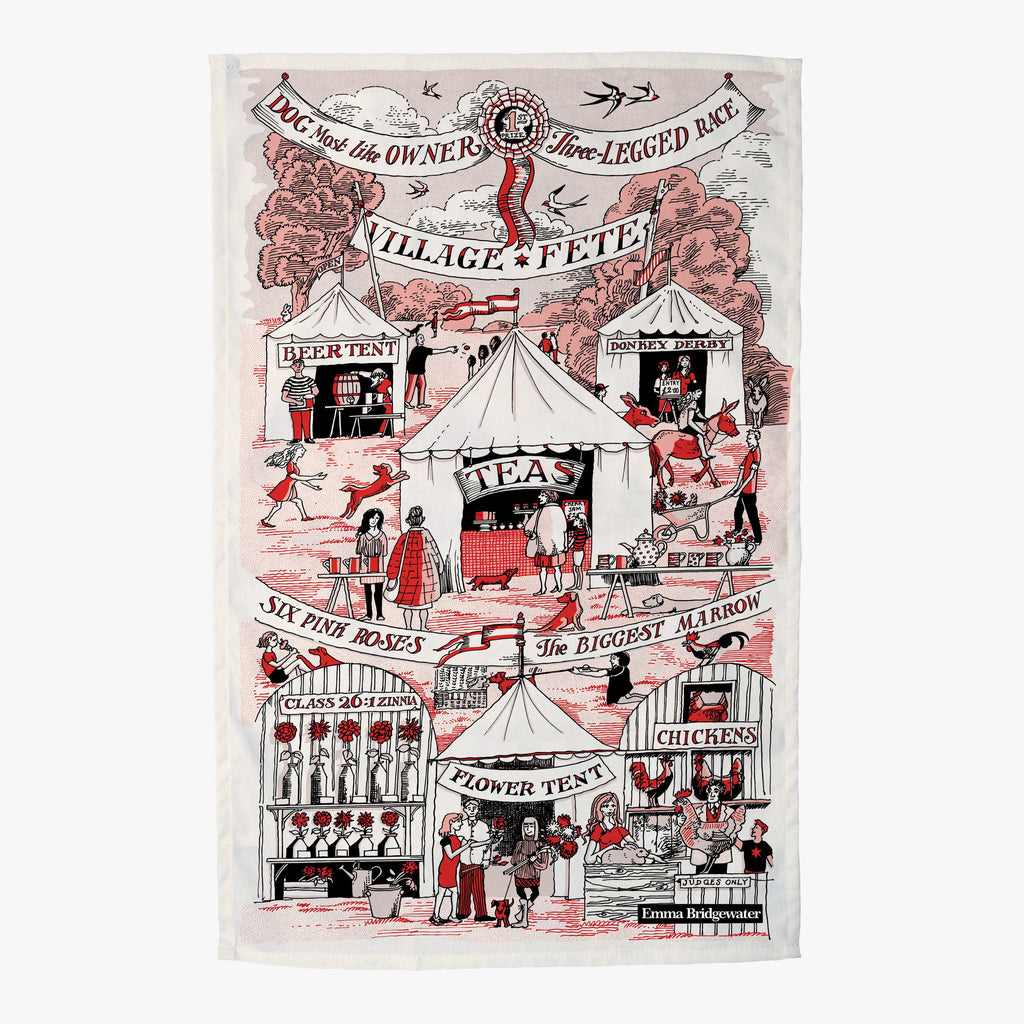 Village Fete Tea Towel