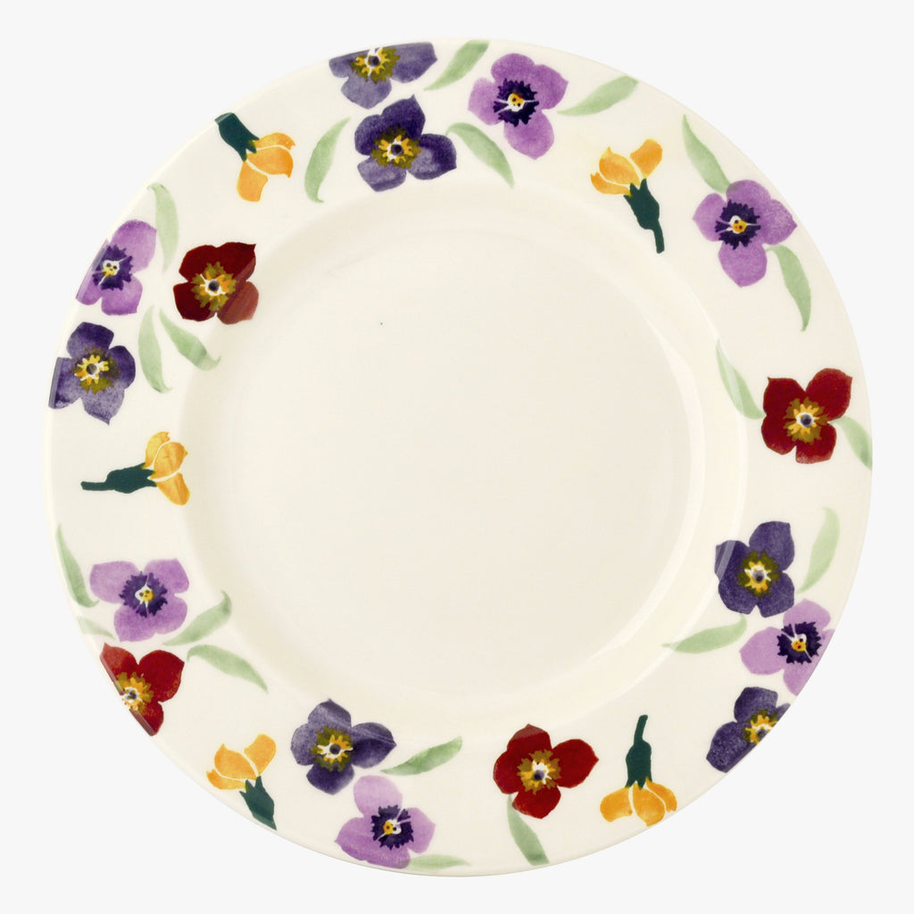 Seconds Purple Wallflower 10 1/2 Inch Plate