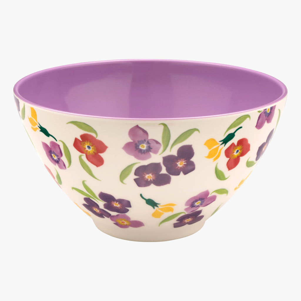 Wallflower Melamine Large Bowl