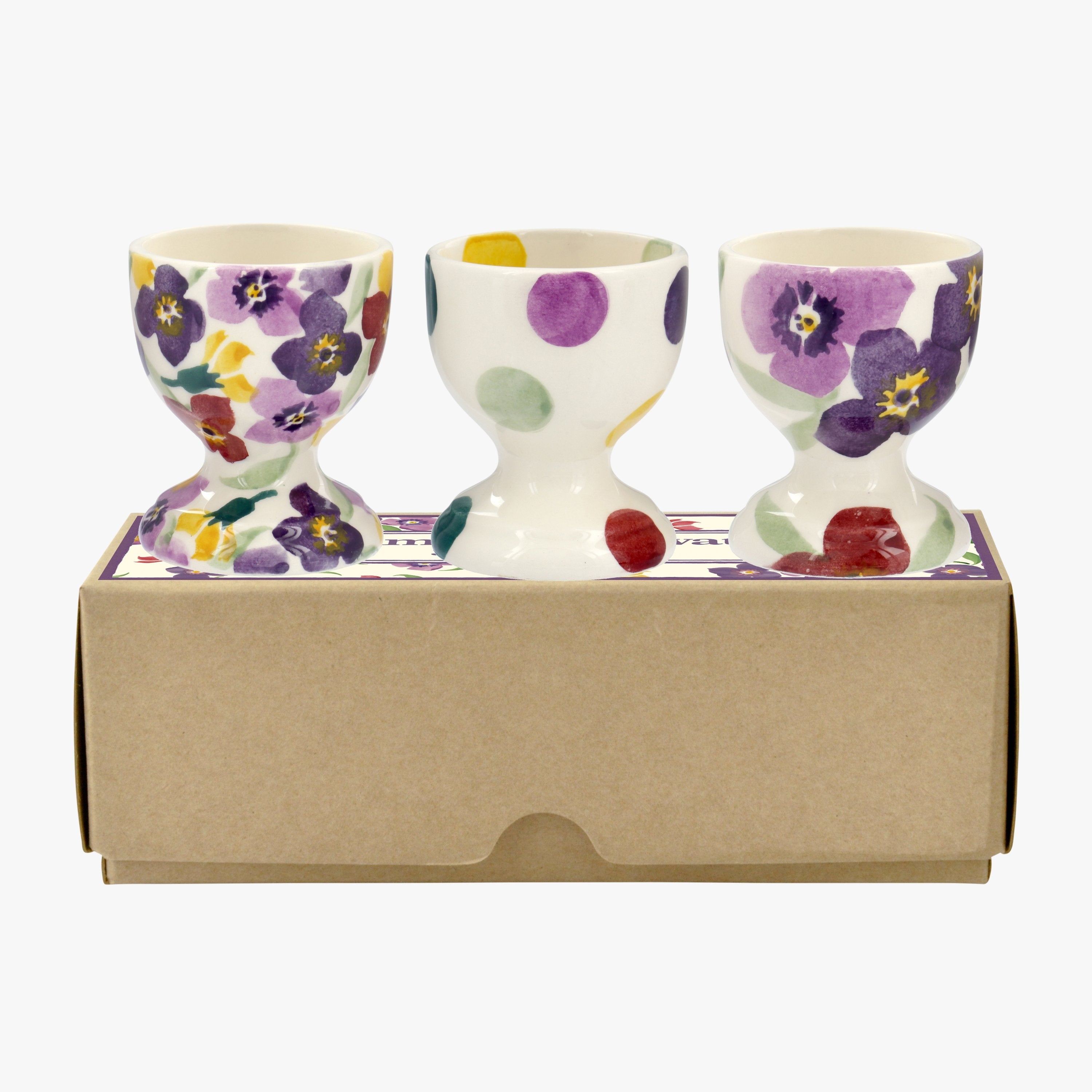 Photo of Wallflower mix set of 3 egg cups