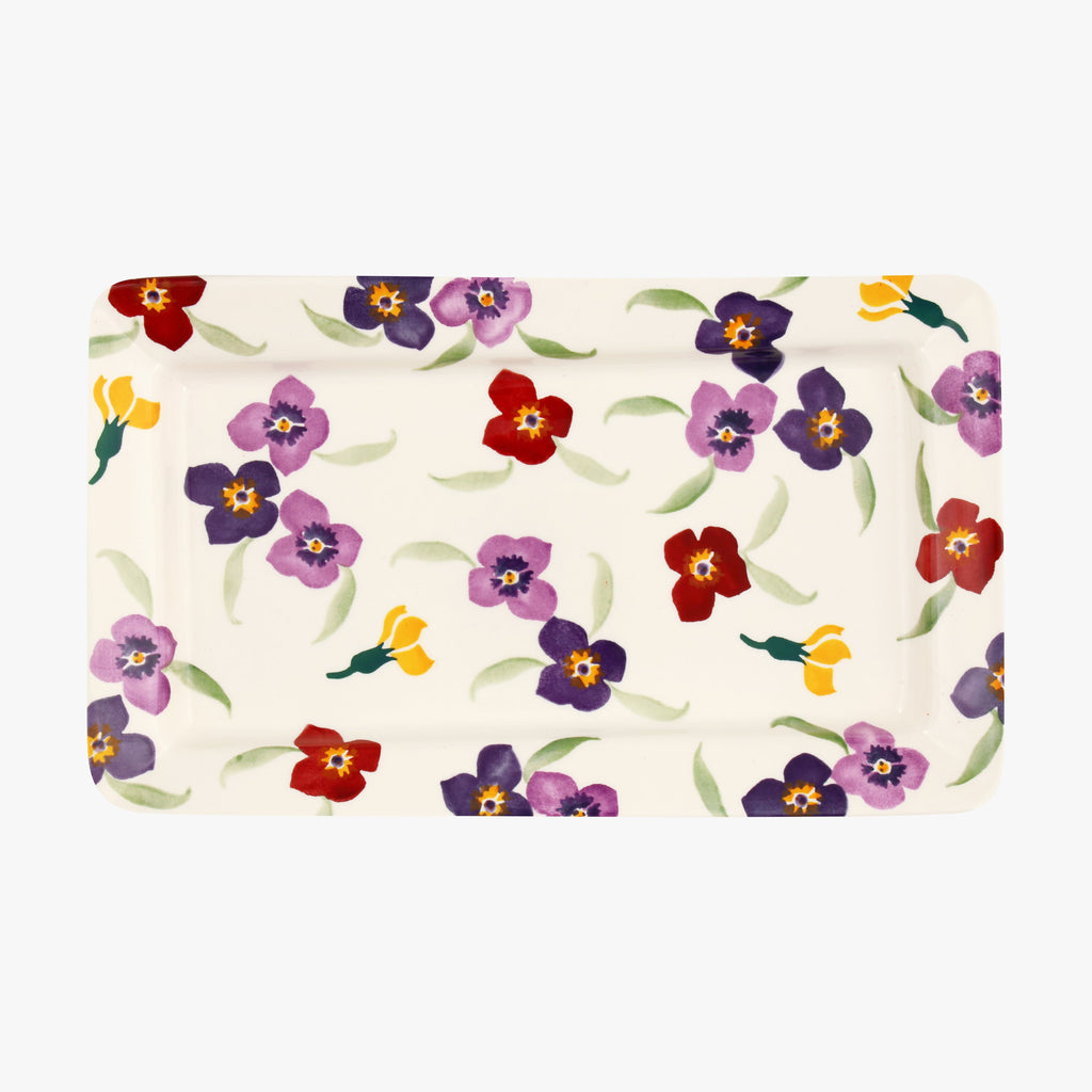 Seconds Wallflower Medium Oblong Plate