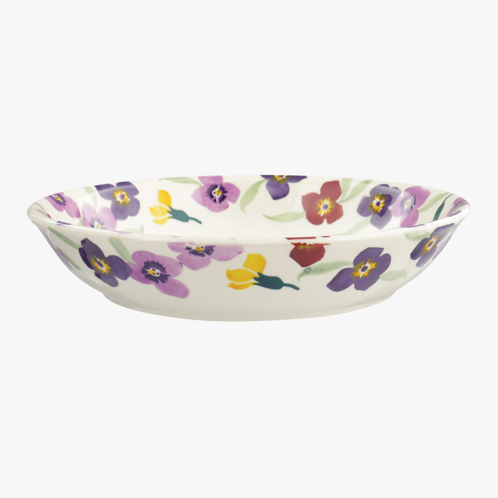 Seconds Wallflower Border Medium Pasta Bowl