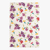 Purple Wallflower Tea Towel