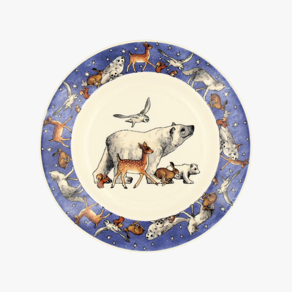 "Seconds Winter Animals 8 1/2"" Plate"