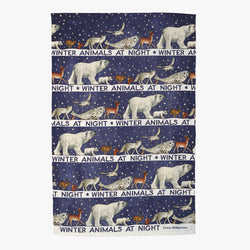 Winter Animals Tea Towel