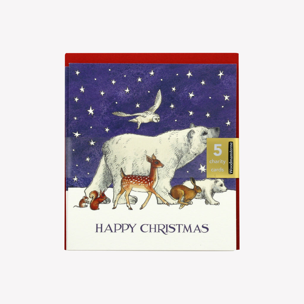 Winter Animals Pack of 5 Cards