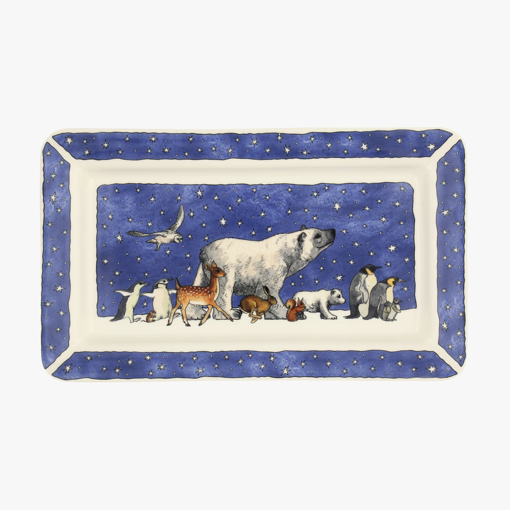 Winter Animals Medium Oblong Plate