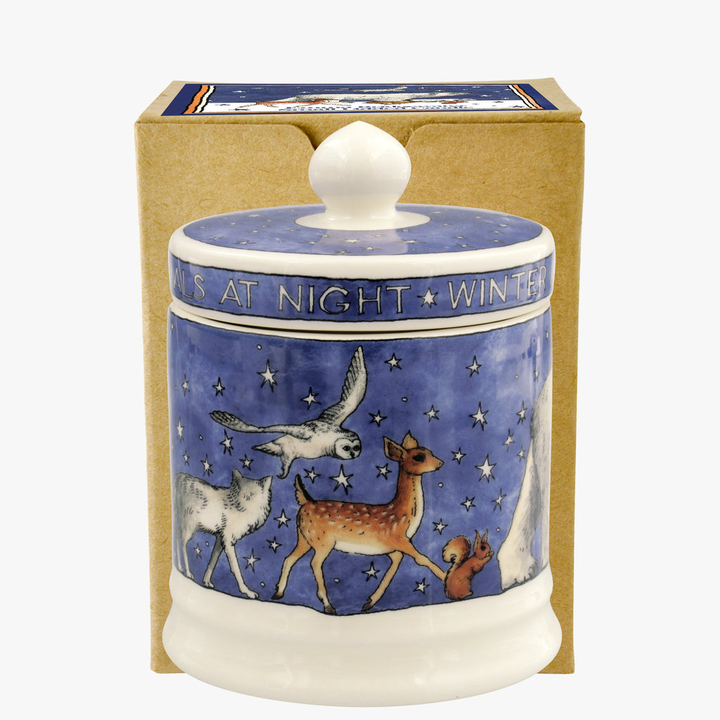 Winter Animals Small Lidded Candle Boxed