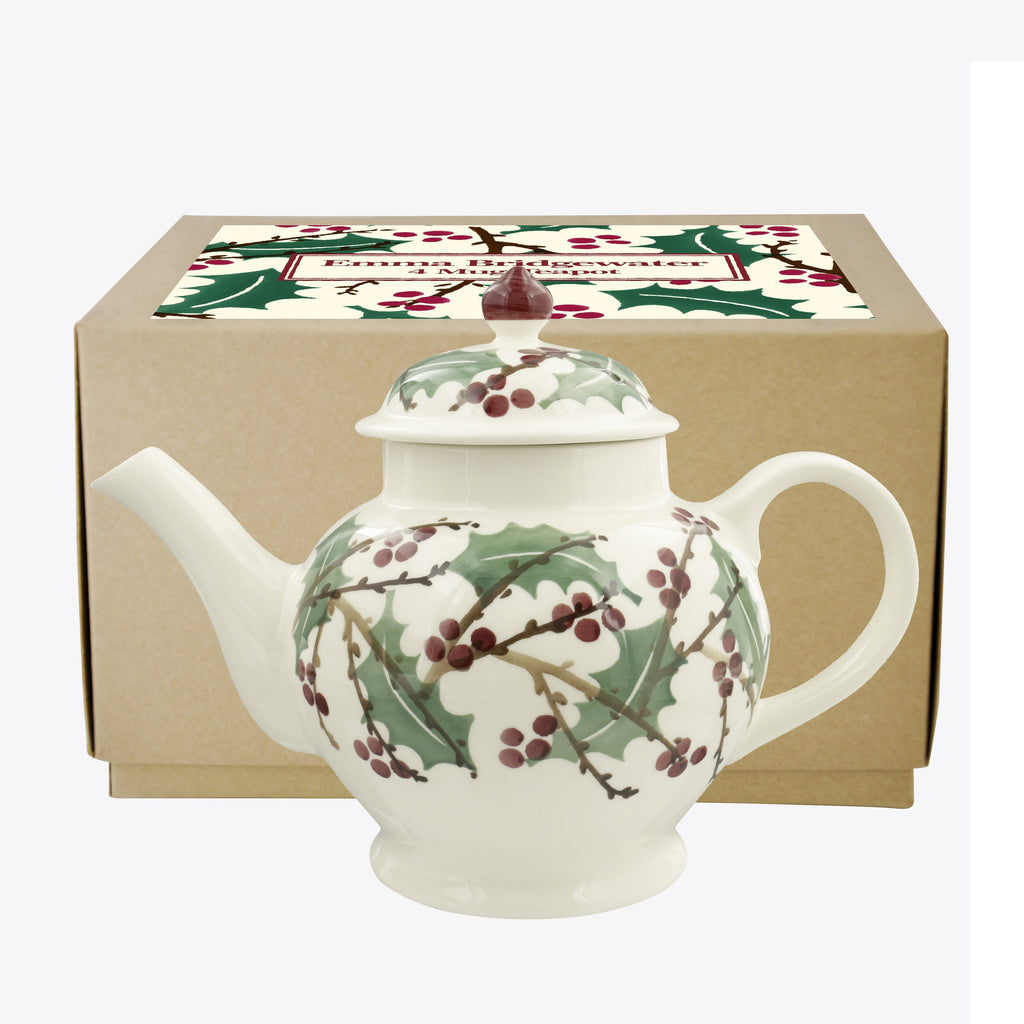 Winterberry 4 Mug Teapot Boxed