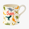 Personalised Dinosaur 1/2 Pint Mug