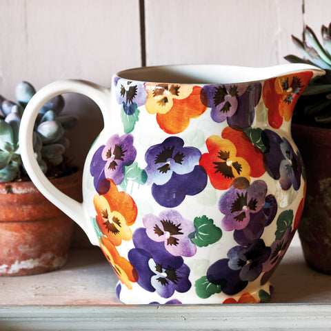 Purple Pansy 3 Pint Jug
