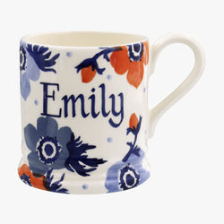 Personalised Anemone 1/2 Pint Mug