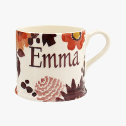 Personalised Bright Dahlias Small Mug