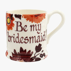 Personalised Bright Dahlias 1/2 Pint Mug