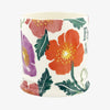 Personalised Bright Poppies 1 Pint Mug