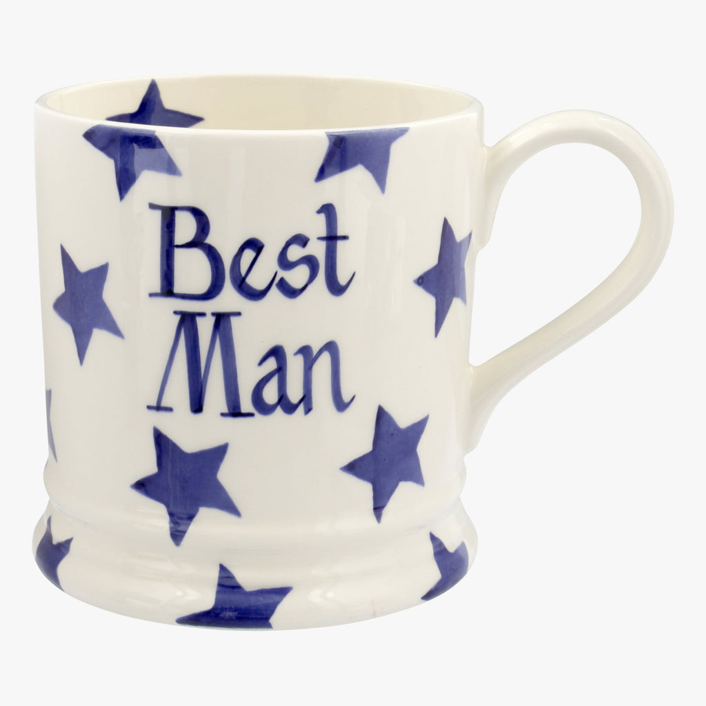 Personalised Blue Star 1 Pint Mug