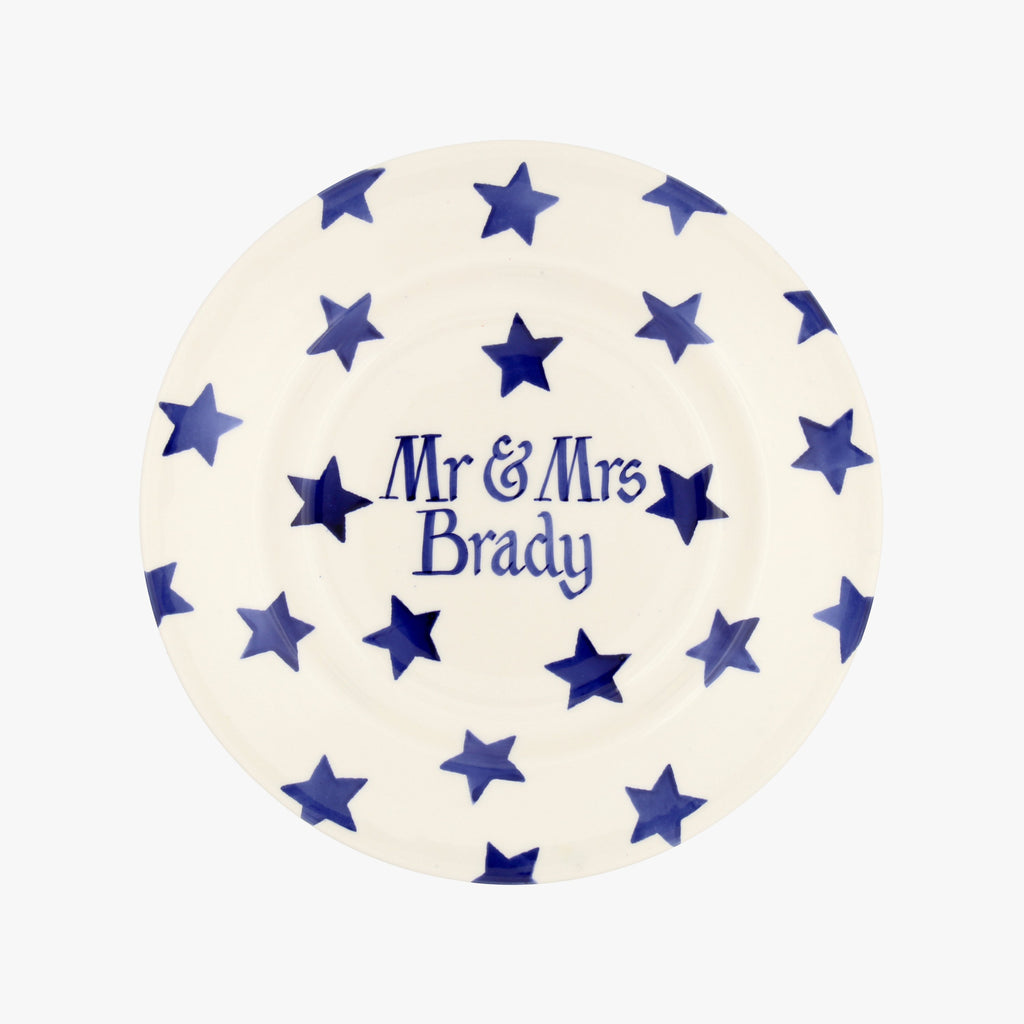 "Personalised Blue Star 8 1/2"" Plate"