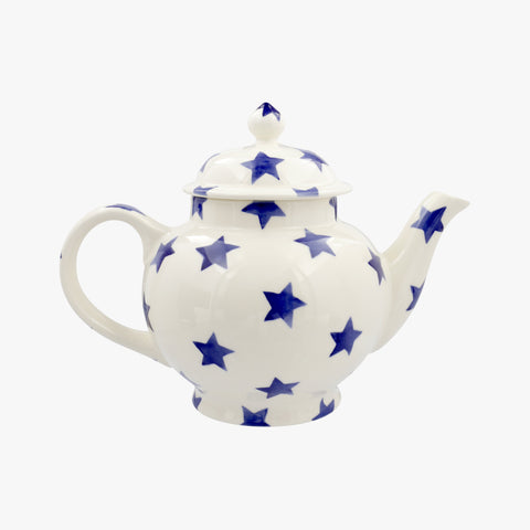 Personalised Blue Star 4 Mug Teapot