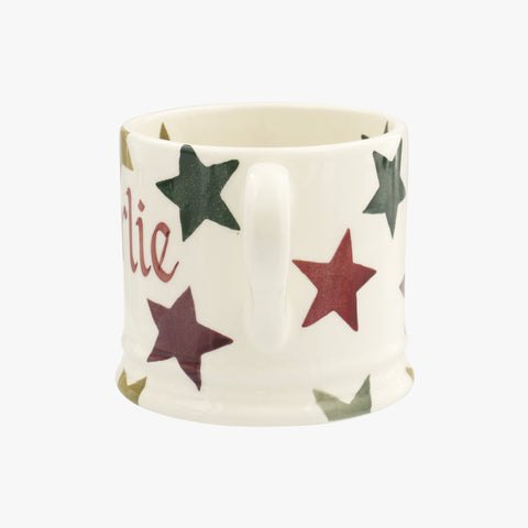 Personalised Christmas Multi Star Small Mug