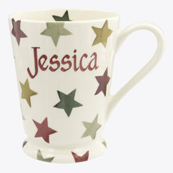 Personalised Christmas Multi Star  Cocoa Mug