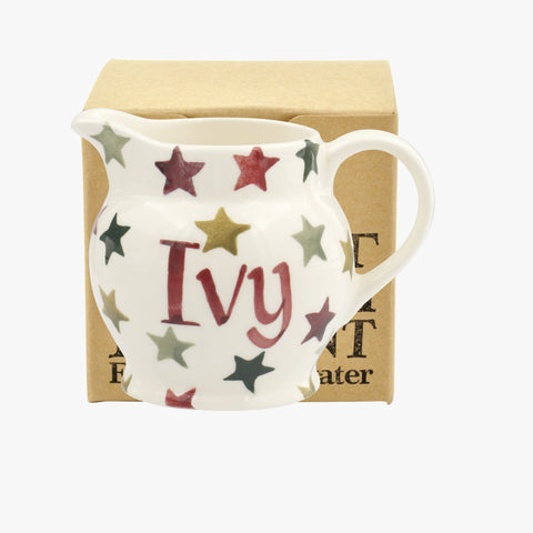 Personalised Christmas Multi Star Tiny Jug Decoration