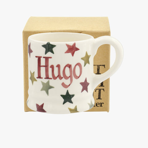 Personalised Christmas Multi Star Tiny Mug Decoration