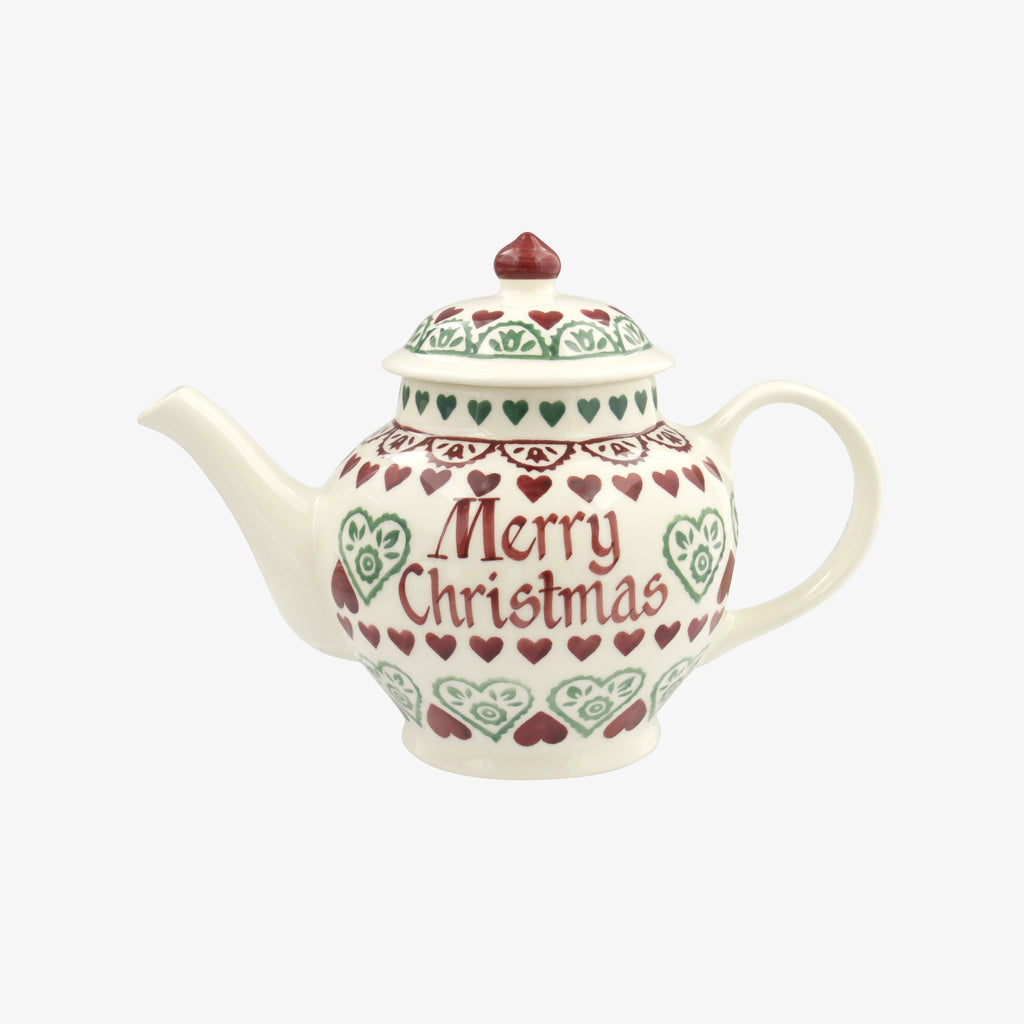 Personalised Christmas Sampler 2 Mug Teapot