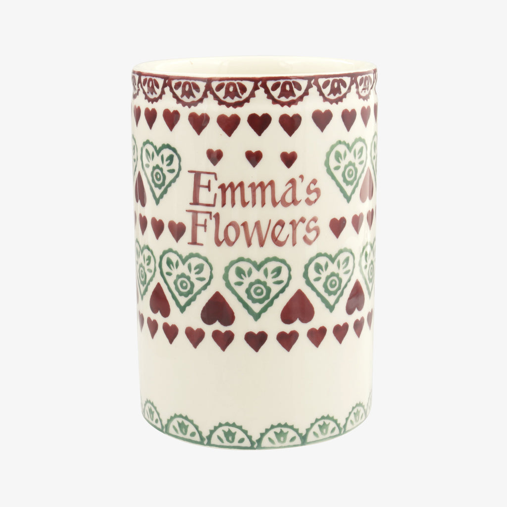 Personalised Christmas Sampler Medium Vase
