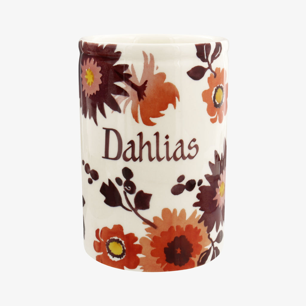 Personalised Bright Dahlias Medium Vase