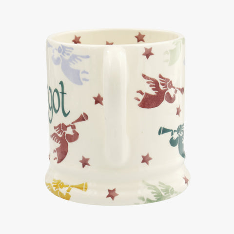 Personalised Polka Angels 1/2 Pint Mug