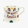 Personalised Polka Pussycat Small Mug