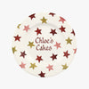 "Personalised Pink & Gold Stars 8 1/2"" Plate"