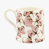 Personalised Pink Cabbage White Butterfly 1/2 Pint Mug