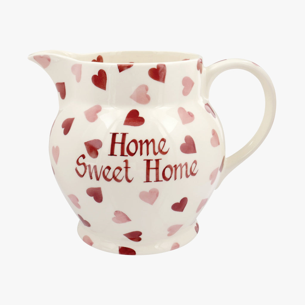 Personalised Pink Hearts 3 Pint Jug