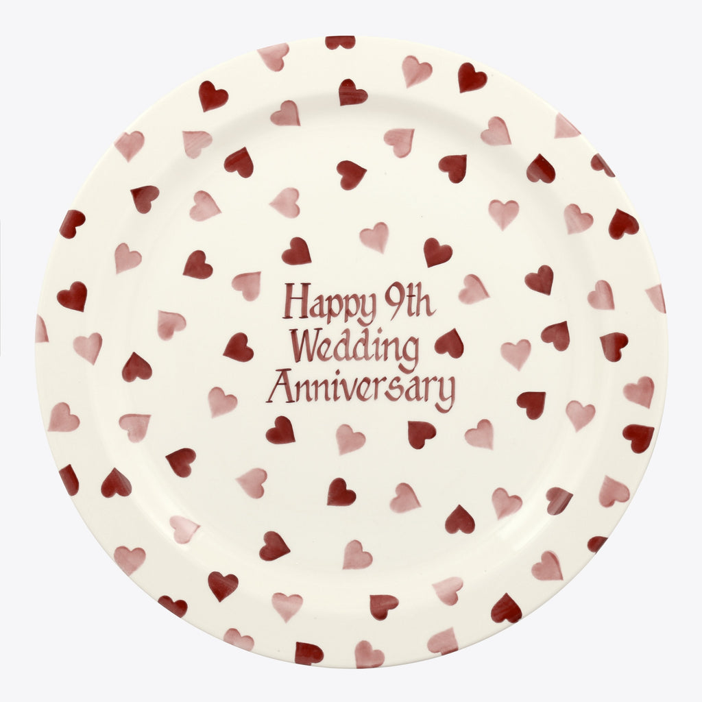 Personalised Pink Hearts Serving Plate
