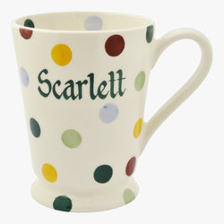 Personalised Polka Dot Cocoa Mug