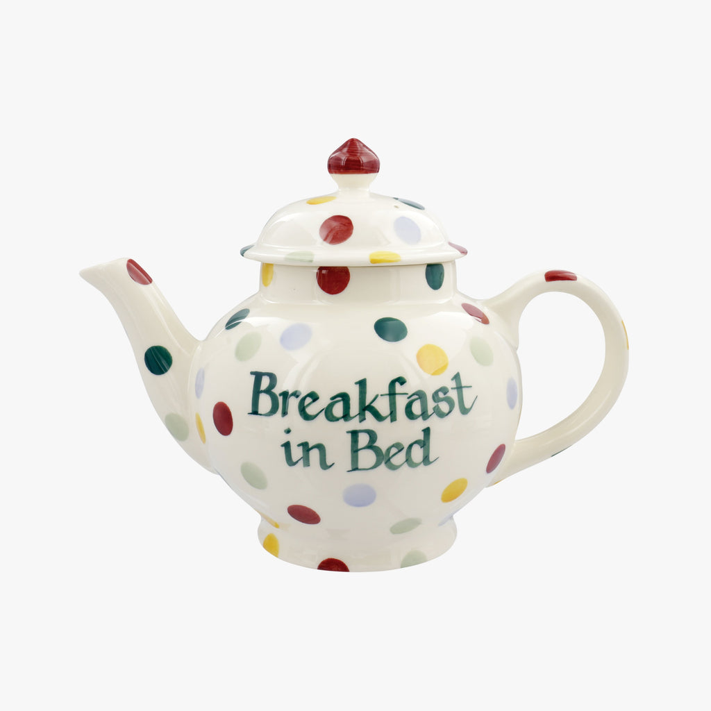Personalised Polka Dot 4 Mug Teapot