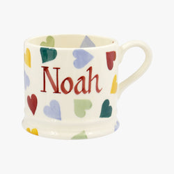 Personalised Polka Hearts Small Mug